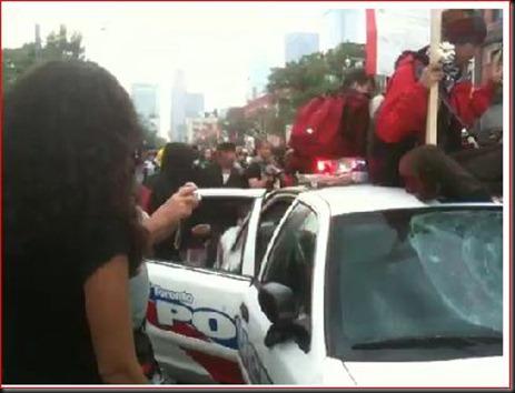 Captured cop car