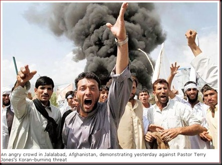 anger against burning koran