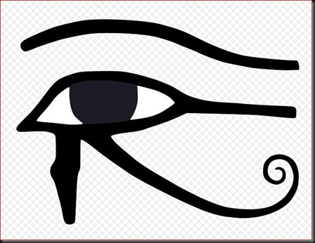 Eye of Horus bw.svg
