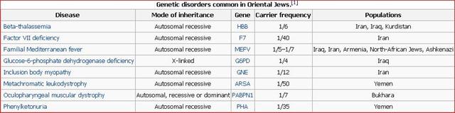 Jew Detector: Genetic Disorders Common In Oriental Jews
