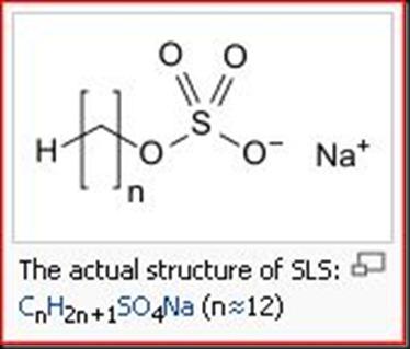 Sodium lauryl sulfate structure
