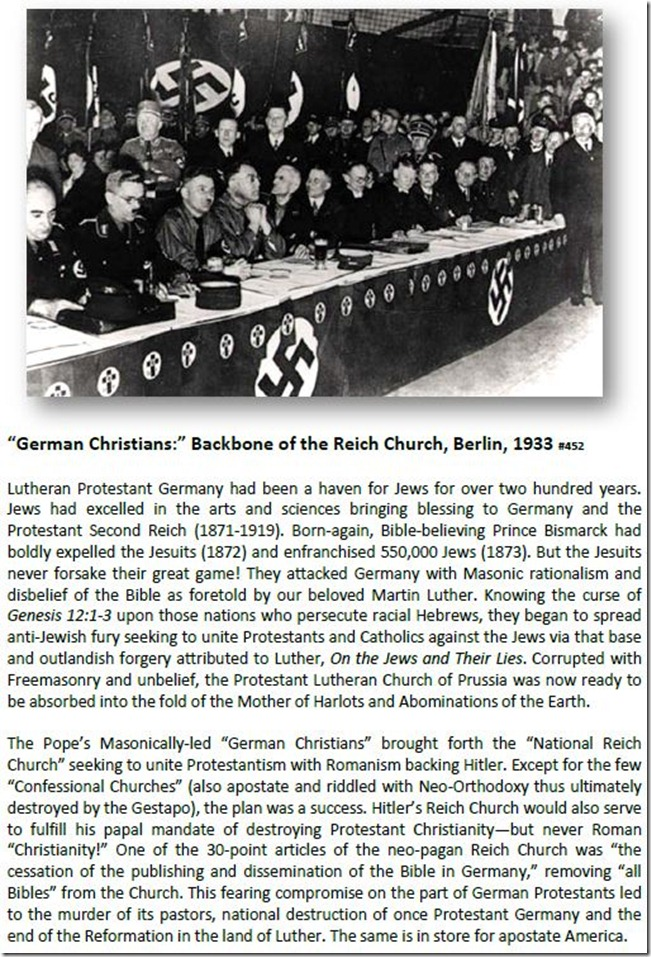 """German Christians"" Backbone of the Reich Church, Berlin, 1933"