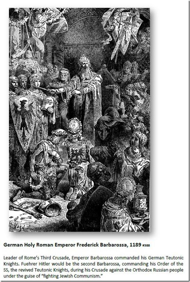 German Holy Roman Emperor Frederick Barbarossa, 1189
