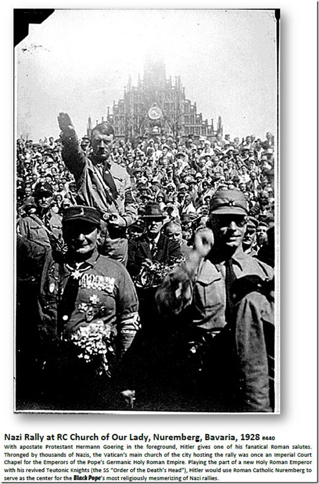 Nazi Rally at RC Church of Our Lady, Nuremberg, Bavaria, 1928